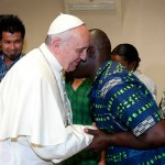 Pope Francis met with refugees in Centro Astalli, Italy