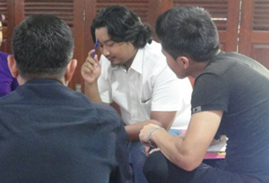 Gading and Asylum Seekers participating in a Living Values Education Workshop