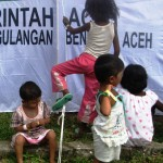 rohingya children at aceh camp